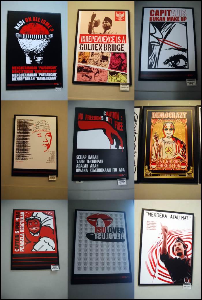 Beberapa poster yang dipamerkan